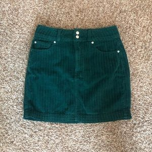 urban outfitters green corduroy skirt